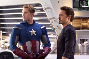 Captain America and Tony Stark are part of the Avengers Assemble.