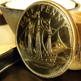 leather gold penny