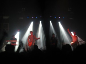 Dancing lights and progressive rock makes for an semi-psychedelic concert