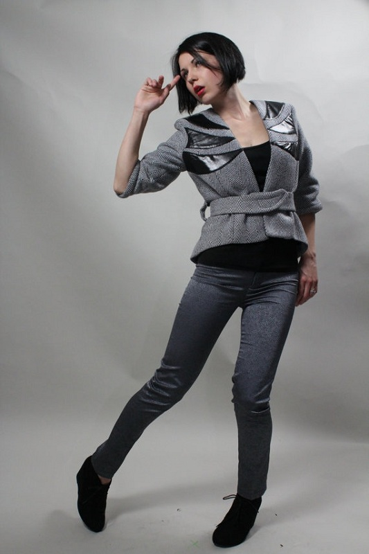 Daria Karaseva herringbone jacket