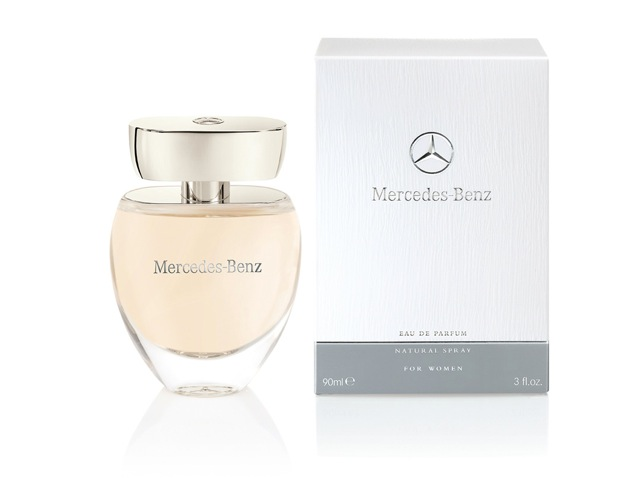Mercedes benz first women s fragrance available at for Mercedes benz car perfume