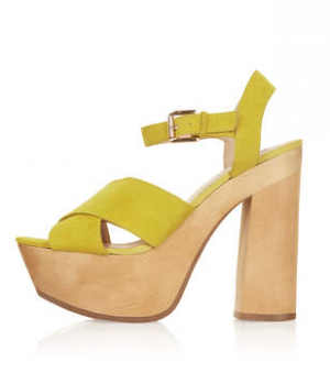 Lilli platform sandals in yellow from Topshop