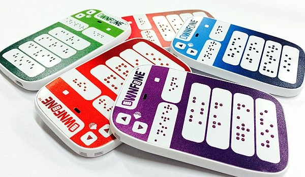 World's first 3D printed Braille phone launched in the UK. Photo: OwnFone
