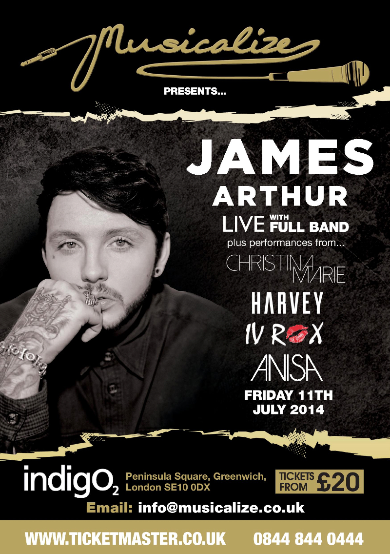 James Arthur Musicalize July 2014 TM