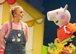 Peppa Pig image of actors Emma Grace Arends and Evie James