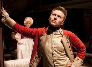 Iain Batchellor as Captain Jack Absolute in The Rivals