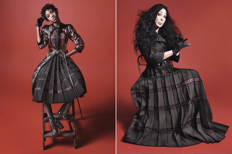 Willow smith joins cher in marc jacobs autumn winter 2015 campaign