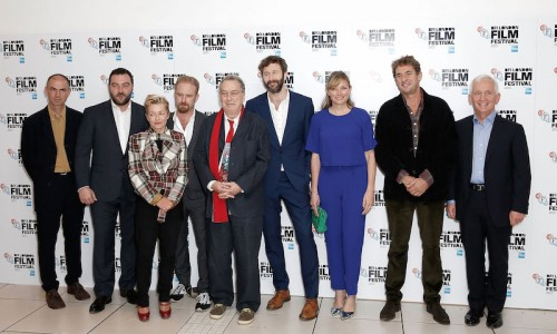 LONDON, ENGLAND - OCTOBER 10:  Cast and crew (L-R) John Hodge, Denis Menochet, Tracy Seaward, Ben Foster, Stephen Frears, Chris O'Dowd, Kate Solomon, Tim Bevan and David Walsh attend the 'The Program' screening, during the BFI London Film Festival, at Vue Leicester Square on October 10, 2015 in London, England.  (Photo by John Phillips/Getty Images for BFI) *** Local Caption *** John Hodge; Denis Menochet; Tracy Seaward; Ben Foster; Stephen Frears; Chris O'Dowd; Kate Solomon; Tim Bevan; David Walsh