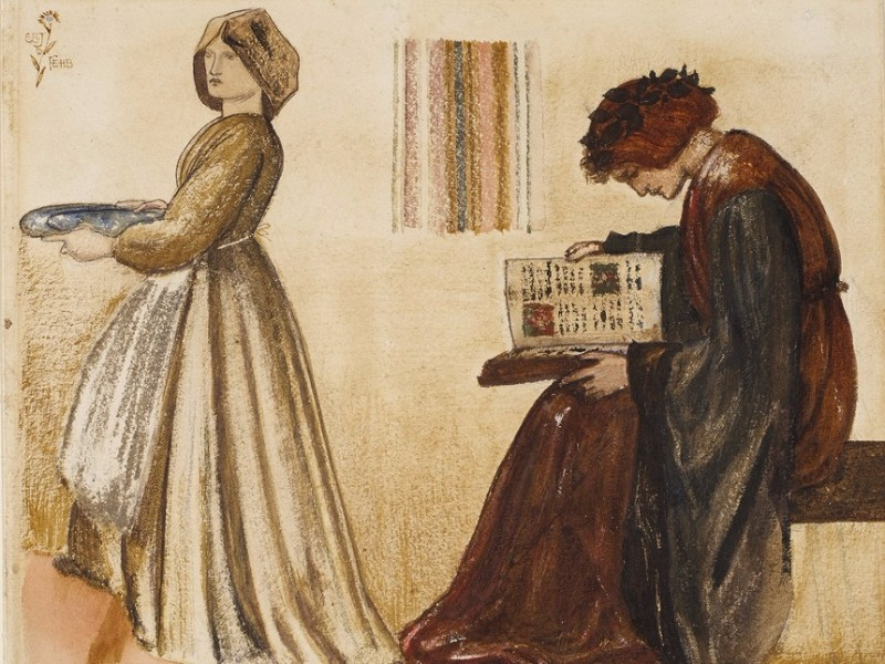 Edward-Burne-Jones-Study-for-The-Wedding-Feast-of-Sir-Degrevaunt-for-William-Morris-Red-House