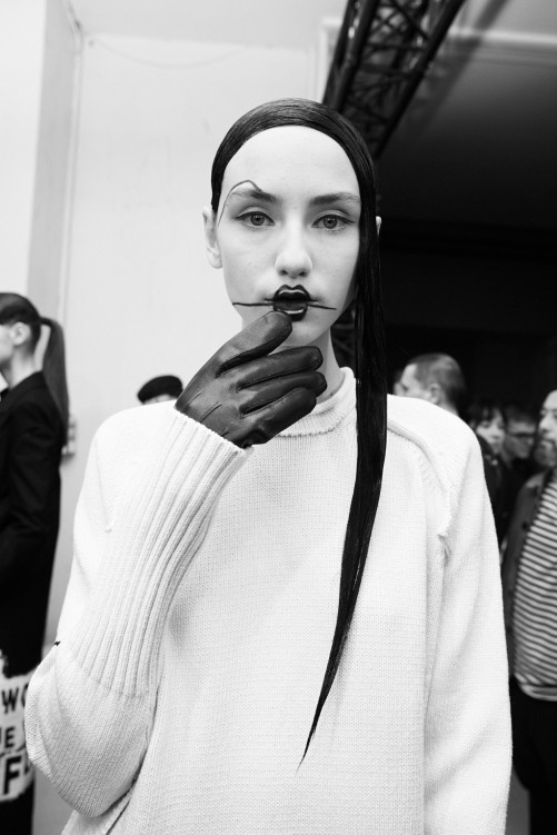 PFW AW16 - Yohji Yamamoto backstage - Ambra Vernuccio - The Upcoming - 28