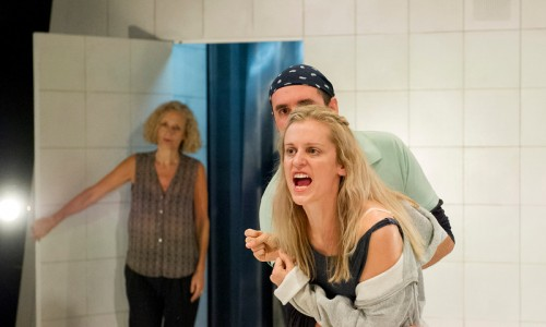 """""""  Barbara Maten as the Therapist,  Alistair Cope as Foster, Denise Gough as Emma, ©Alastair Muir 28.08.15 People, Places and Things 288"""""""