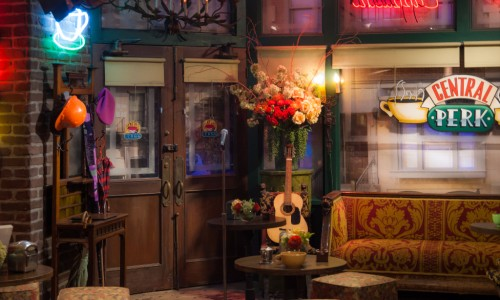 The Central Perk set from Friends on the Warner Bros. Studio VIP Tour in Los Angeles, California