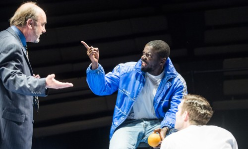 David Haig (Robert), Daniel Kaluuya (Christopher) and Luke Norris (Bruce) in Blue/Orange by Joe Penhall @ Young Vic. Directed by Matthew Xia. (Opening-19-05-16) ©Tristram Kenton 05/16 (3 Raveley Street, LONDON NW5 2HX TEL 0207 267 5550  Mob 07973 617 355)email: tristram@tristramkenton.com
