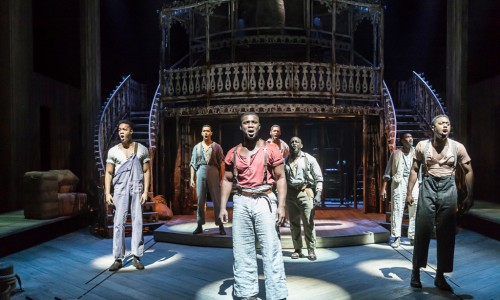 SHOW BOAT by Hammerstein, Emmanuel Kojo; Sandra Marvin, Writer - Oscar Hammerstein II, Director - Daniel Evans, Designer - Lez Brotherstoni, Lighting - David Hersey, Choreographer - Alistair David, Music - David White, The New London Theatre, London,, UK, 2016, Credit - Johan Persson - www.perssonphotography.com /