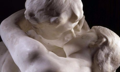 BFW9WE The Kiss, marble, 1888-89, detail