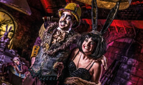 ALICE'S ADVENTURES UNDERGROUND. Richard Holt 'Hatter' and Philippa Hogg 'March Hare'. ©Rah Petherbridge Photography (2)