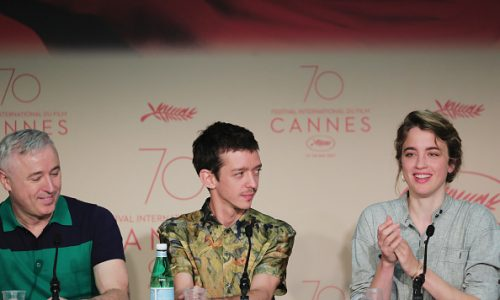 "attends the ""120 Beats Per Minute (120 Battements Par Minute)"" Press Conference during the 70th annual Cannes Film Festival at Palais des Festivals on May 20, 2017 in Cannes, France."