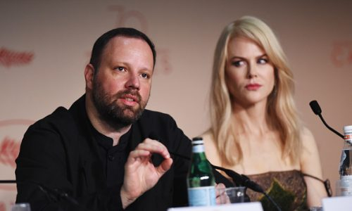 "CANNES, FRANCE - MAY 22:  Director Yorgos Lanthimos and Nicole Kidman attend the ""The Killing Of A Sacred Deer"" press conference during the 70th annual Cannes Film Festival on May 22, 2017 in Cannes, France.  (Photo by Stephane Cardinale - Corbis/Corbis via Getty Images)"