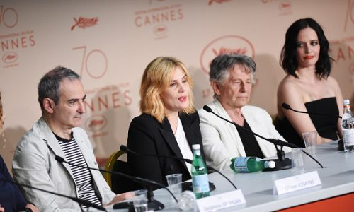 "CANNES, FRANCE - MAY 27:   Screenwriter Olivier Assayas, actress Emmanuelle Seigner, director Roman Polanski and actress Eva Green attend the ""Based On A True Story"" photocall during the 70th annual Cannes Film Festival at Palais des Festivals on May 27, 2017 in Cannes, France.  (Photo by Stephane Cardinale - Corbis/Corbis via Getty Images)"
